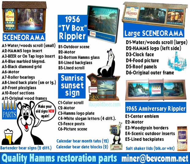 Get Quality Hamms restoration parts here!